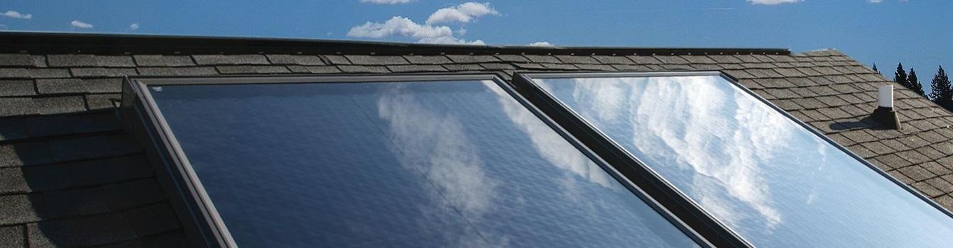 Solar heating installations